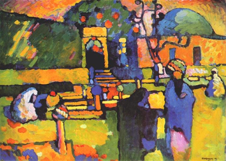 Arabs I (Cemetery), 1909 -  Wassily Kandinsky