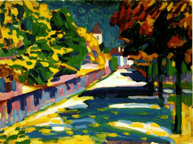 Autumn in Bavaria, 1908 -  Wassily Kandinsky