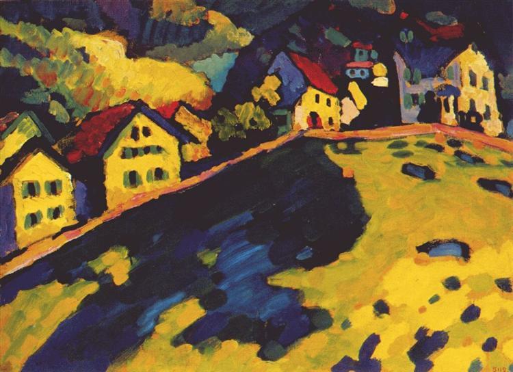 Houses at Murnau, 1909 - Wassily Kandinsky