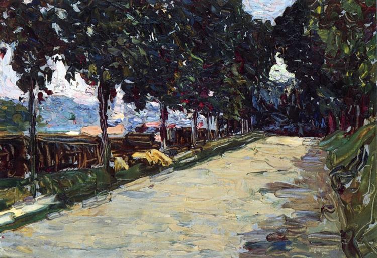 Park of St. Cloud, 1906 - Wassily Kandinsky