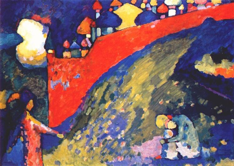Red Wall destiny, 1909 - Wassily Kandinsky