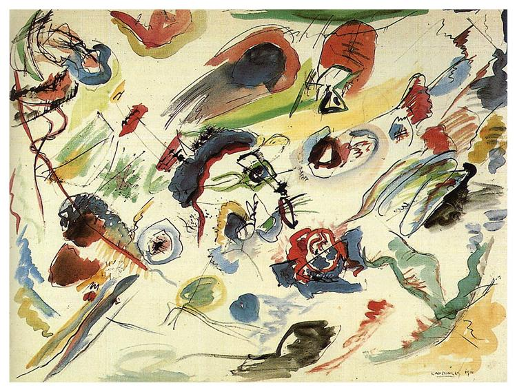 Untitled (First abstract watercolor), 1910 - Wassily Kandinsky