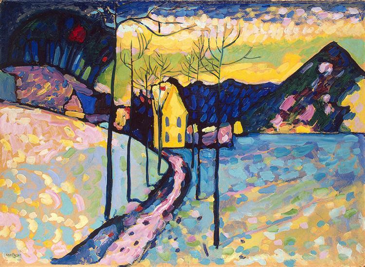 Winter Landscape, 1909 - Wassily Kandinsky
