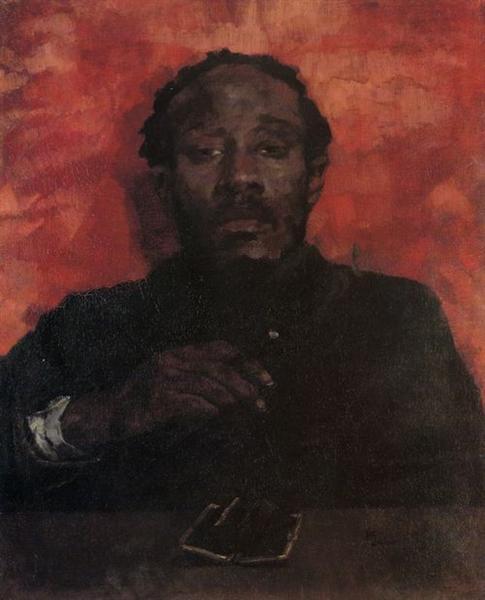 Rauchender Mohr (Kassensturz), 1873 - Wilhelm Trübner