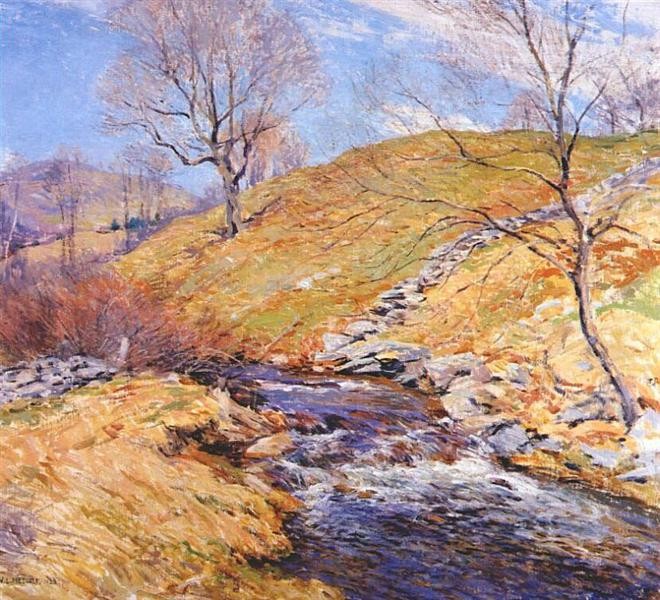 Brook in March, 1923 - Willard Metcalf