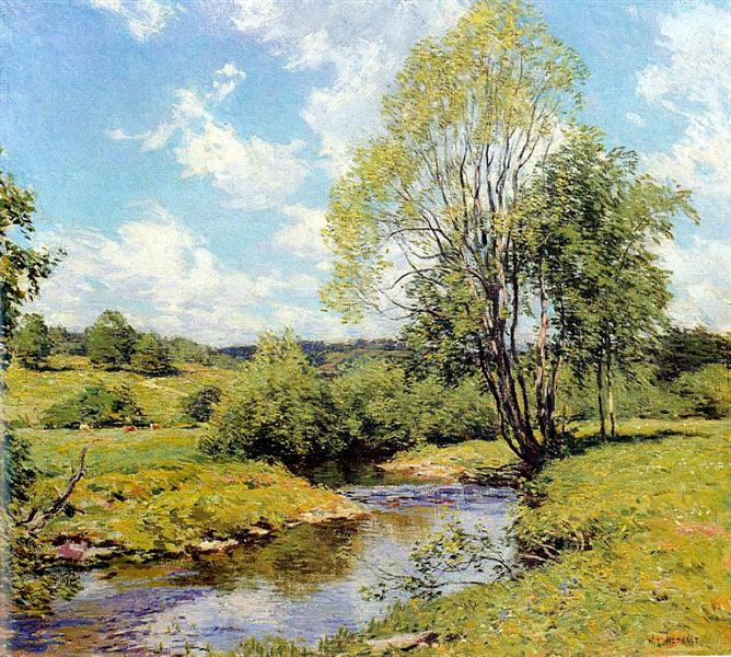 Green Idleness, 1907 - Willard Metcalf