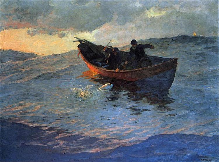 On the Suffolk Coast 02, 1885 - Віллард Меткалф
