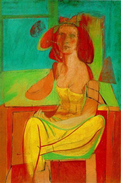 Seated Woman, 1940 - Willem de Kooning