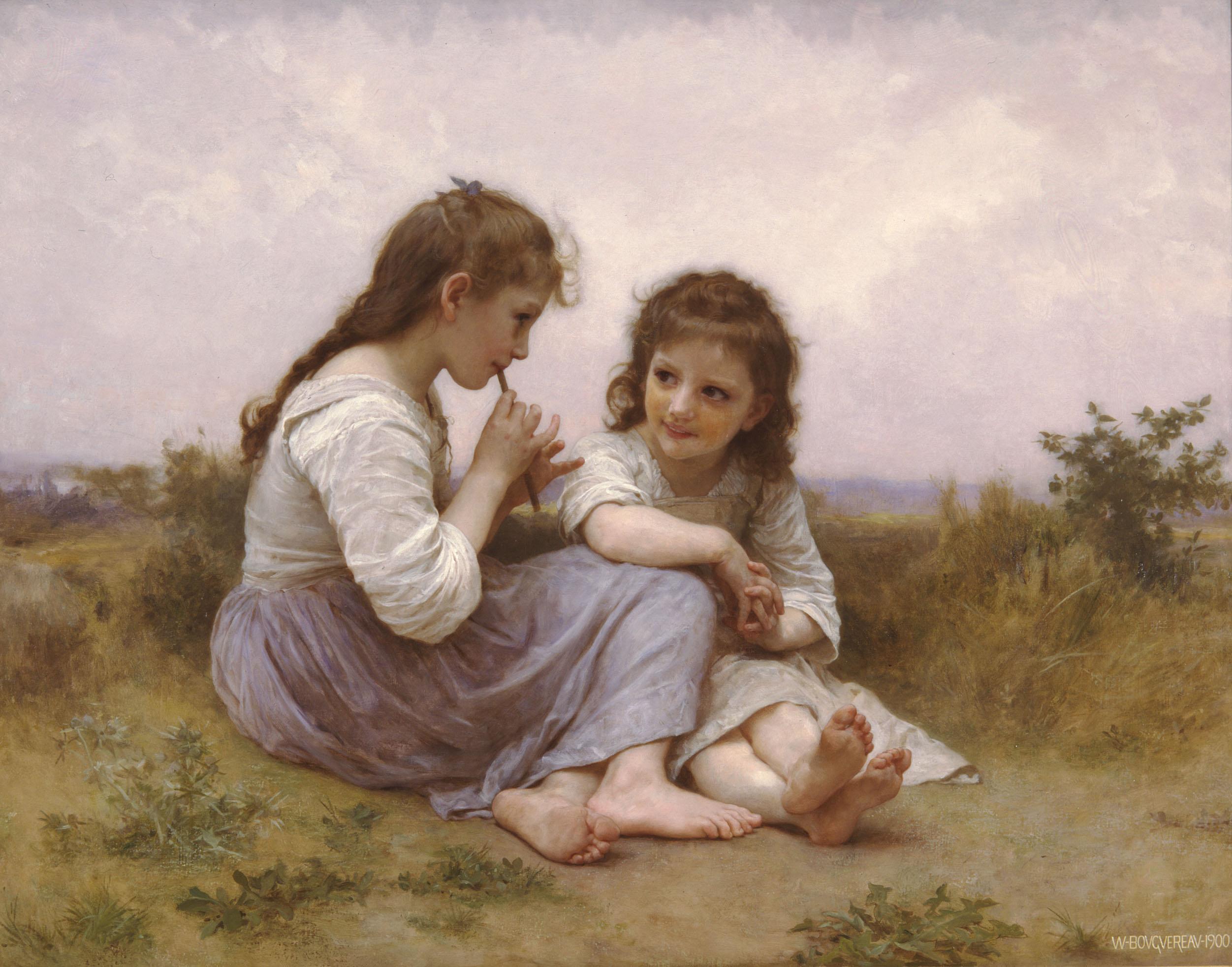 Adorables caritas de niños. A-childhood-idyll-1900
