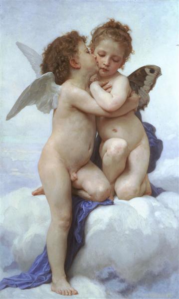 Cupid andPsyche, 1889 - William-Adolphe Bouguereau