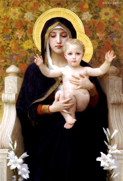 TheMadonna of theLilies, 1899 - William Adolphe Bouguereau