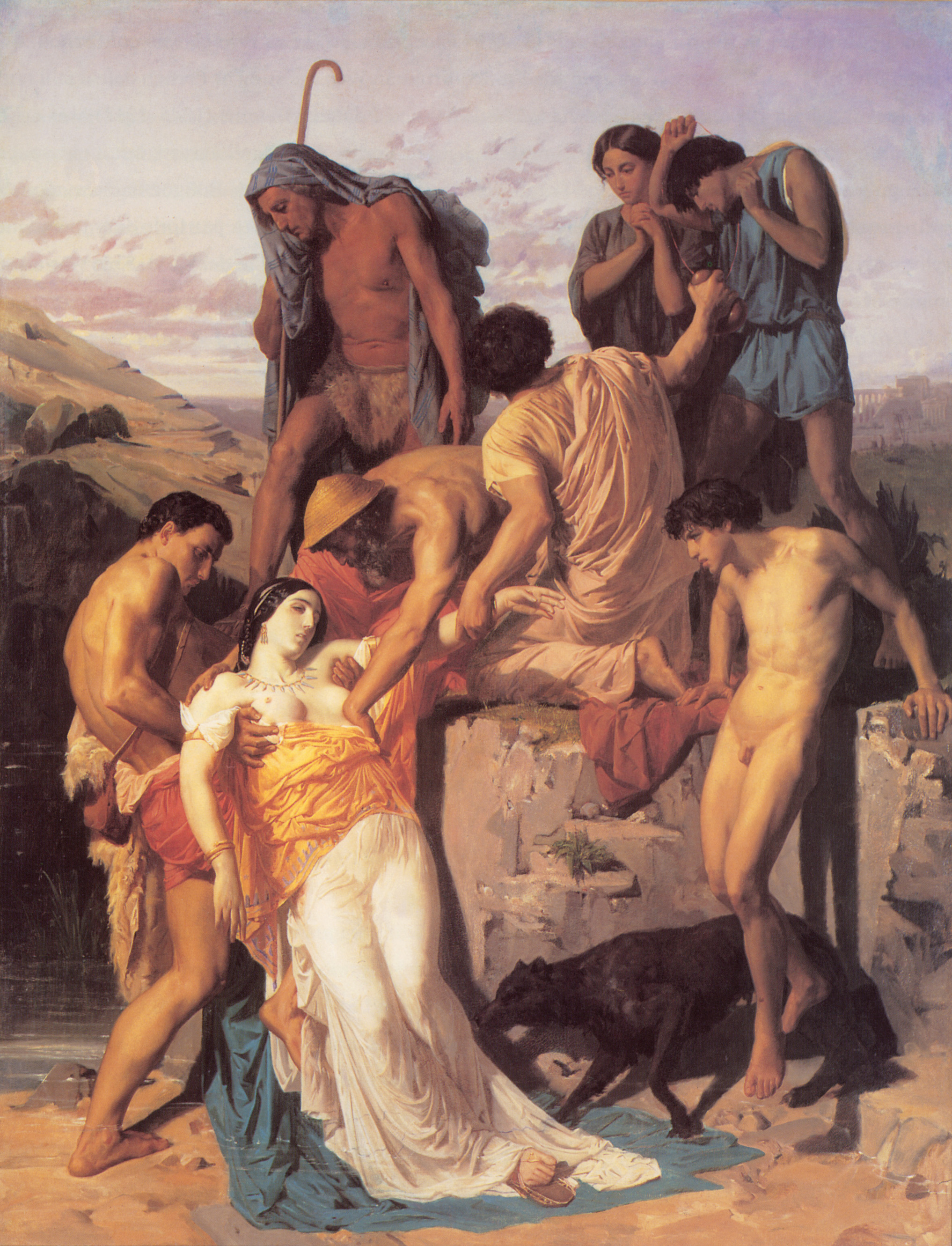 Zenobia found by shepherds on the banks of the Araxes, 1850