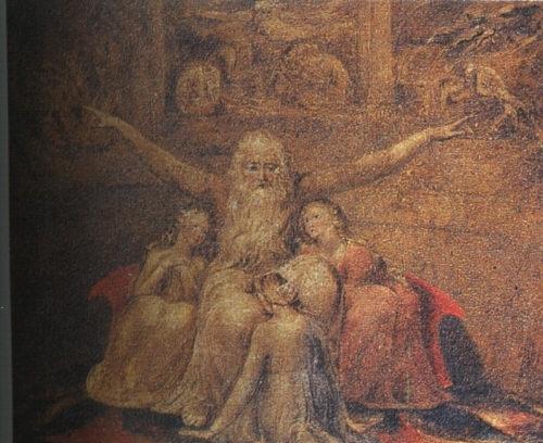 Job and his daughters, 1799 - 1800 - William Blake