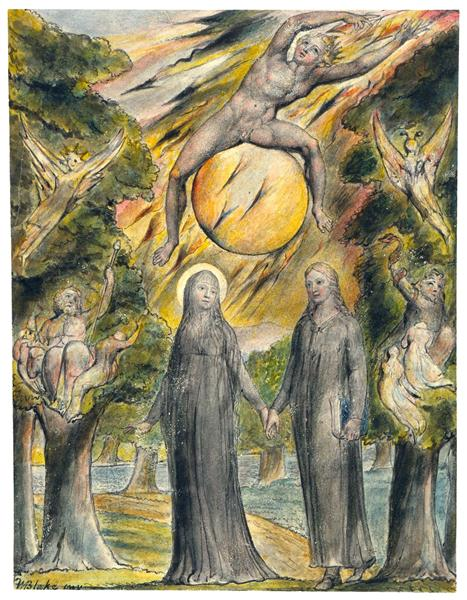 The Sun in His Wrath, 1816 - 1820 - William Blake