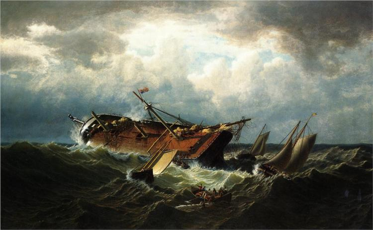 Shipwreck off Nantucket (also known as Wreck off Nantucket, after a Storm), 1861 - William Bradford