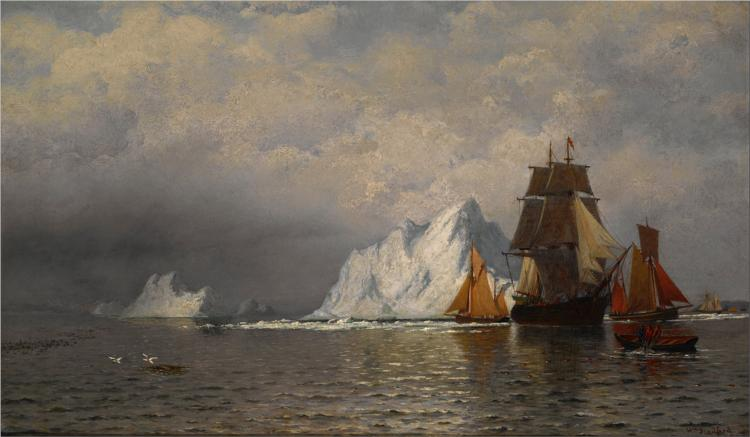 Whaler and Fishing Vessels near the Coast of Labrador, 1880 - William Bradford