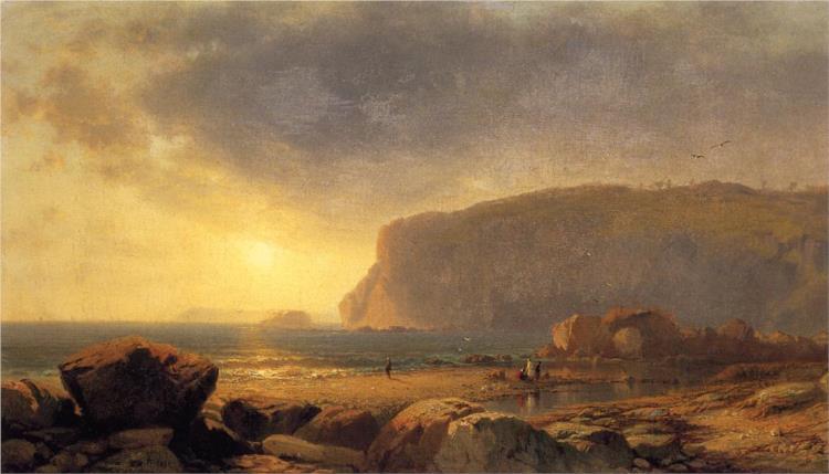 Rocky Coast at Sunset, 1860 - William Hart