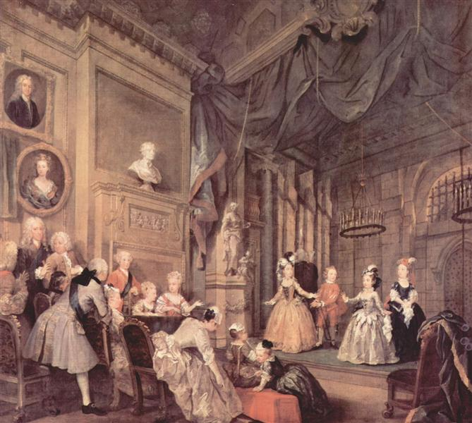 The Children's Theater In The House Of John Conduit, 1731 - 1732 - Вільям Хогарт