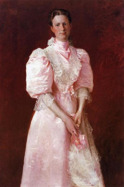 A Study in Pink (Portrait of Mrs. Robert P. McDougal), 1895 - William Merritt Chase