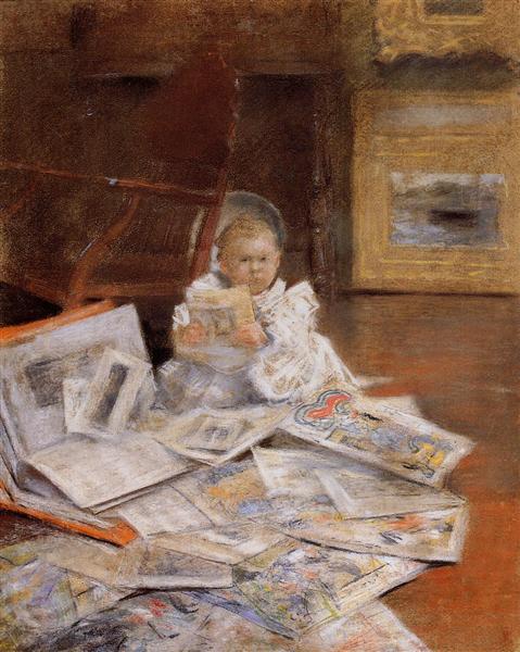 Child with Prints, c.1880 - c.1884 - William Merritt Chase