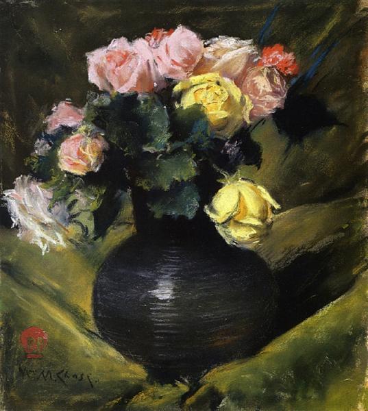 Flowers (aka Roses), c.1884 - c.1888 - William Merritt Chase