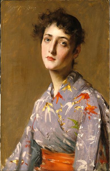 Girl in a Japanese Costume, 1890 - William Merritt Chase