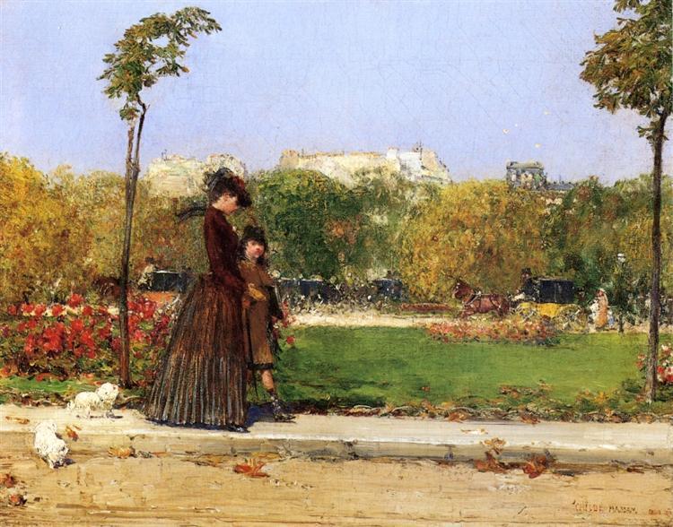 In the Park, Paris, 1889 - William Merritt Chase