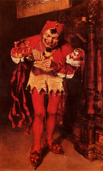 Keying Up, The Court Jester - William Merritt Chase