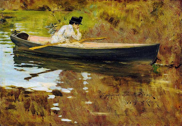 Mrs. Chase in Prospect Park - William Merritt Chase
