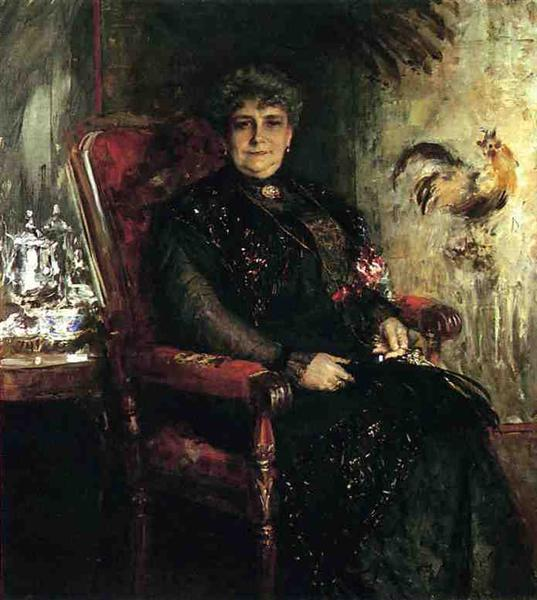 Portrait of Mme. E.H. Bensel, 1912 - William Merritt Chase