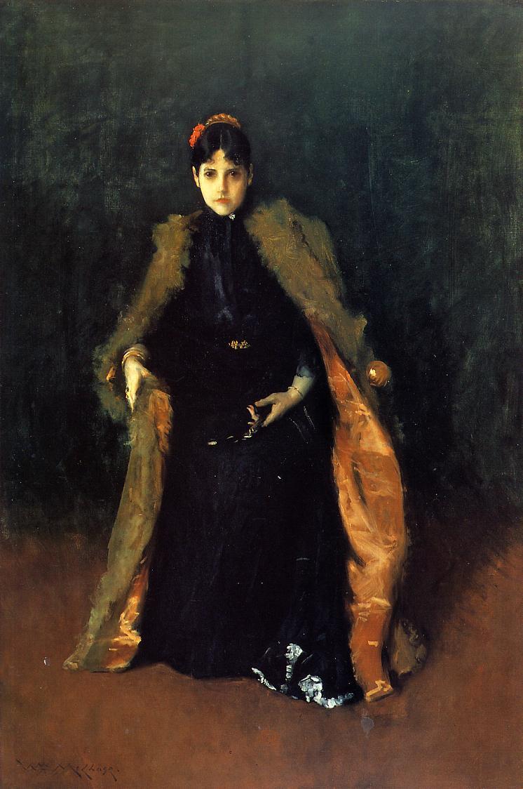 Portrait of Mrs.C. (Alice Gerson Chase) - William Merritt ...