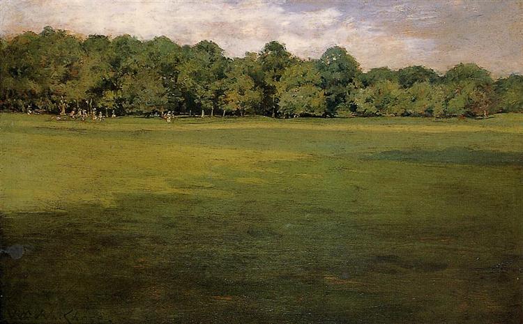 Prospect Park, aka Croquet Lawn Prospect Park, 1886 - William Merritt Chase