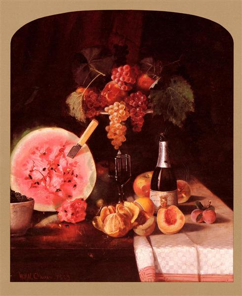 Still Life With Watermelon, 1869 - William Merritt Chase
