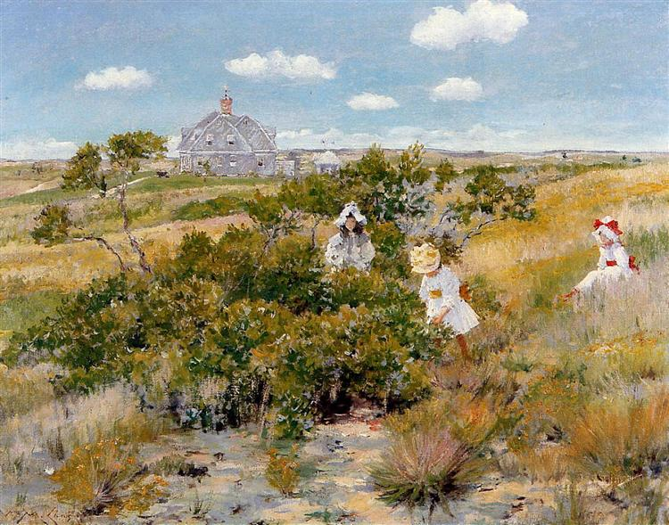 The Bayberry Bush, 1895 - William Merritt Chase