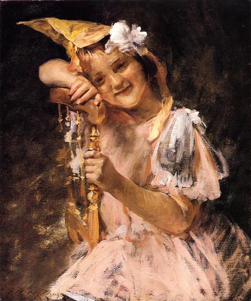 The Birthday Party, aka Helen Velasquez Chase, c.1902 - William Merritt Chase