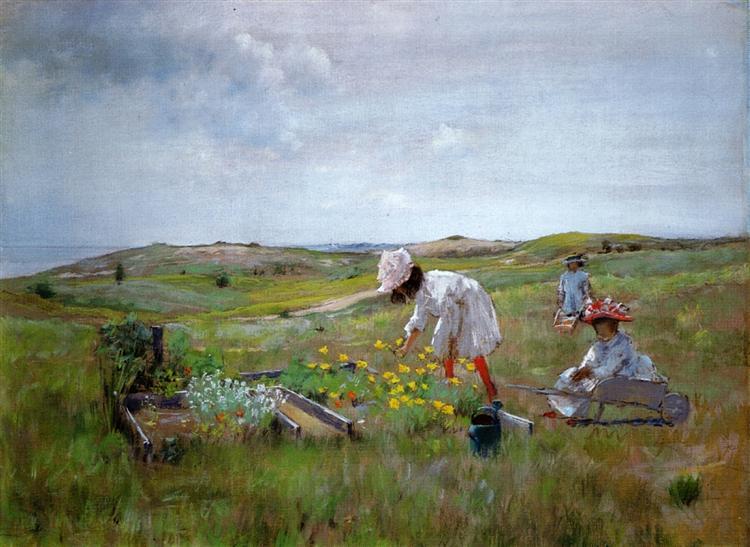 The Little Garden, 1895 - William Merritt Chase