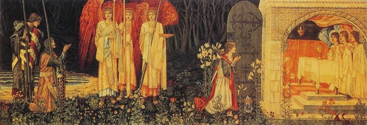 The Vision of the Holy Grail tapestry, 1890 - William Morris