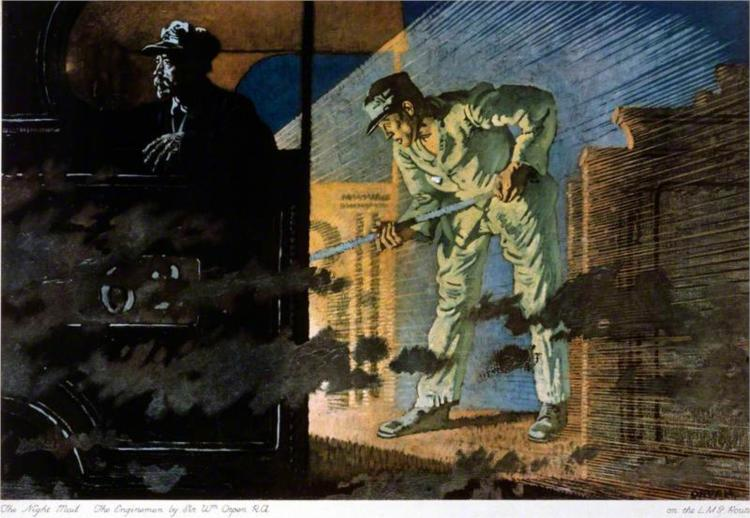 The Night Mail- The Engine Men, 1924 - William Orpen