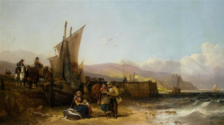 Bargaining for the Catch - William Shayer