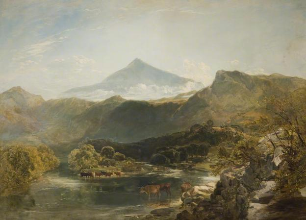 Ben Nevis and Mountain Stream, 1855 - William Shayer