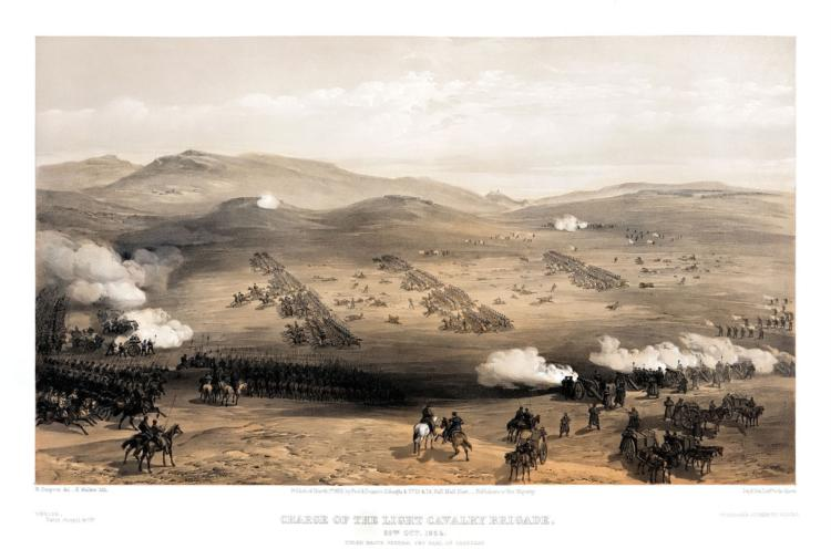 Charge of the Light Cavalry Brigade, 25th Oct. 1854, under Major General the Earl of Cardigan, 1855 - William Simpson