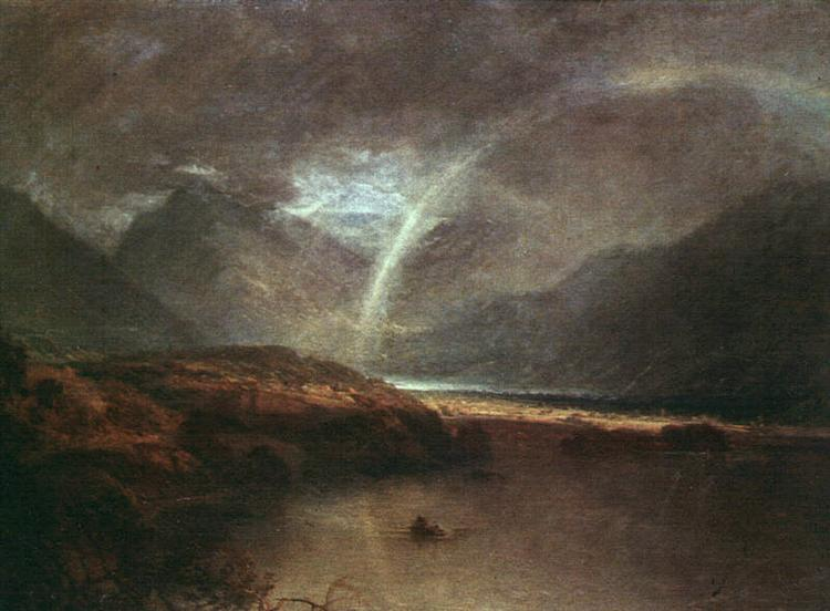 Buttermere Lake, with Part of Cromackwater, Cumberland, a Shower, c.1798 - J.M.W. Turner