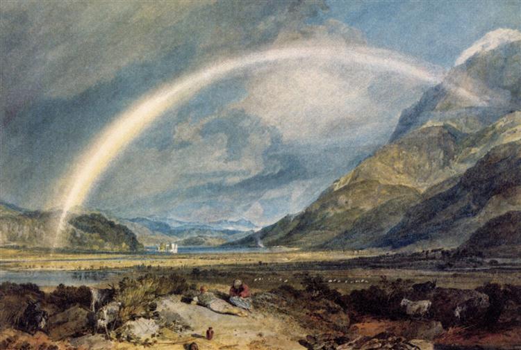 Kilchern Castle, with the Cruchan Ben Mountains, Scotland Noon - J.M.W. Turner