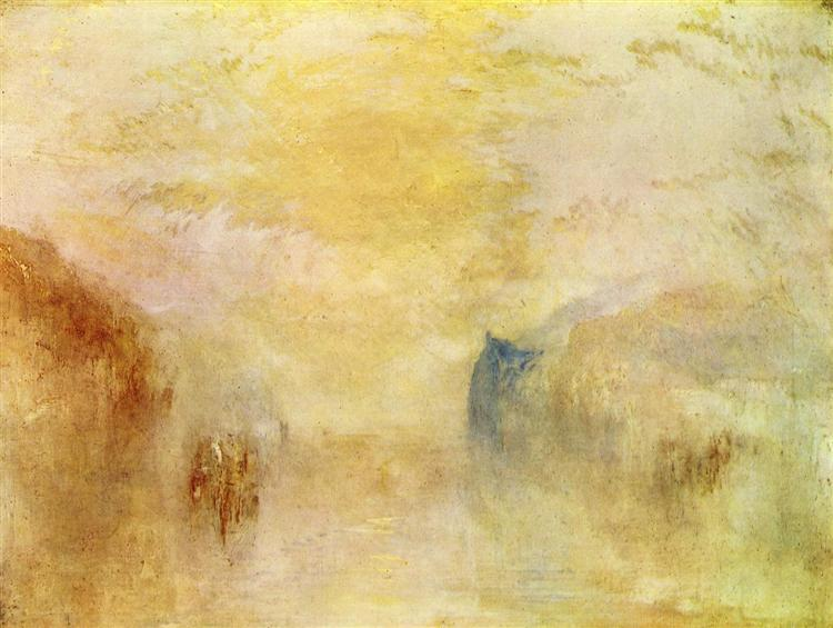 Sunrise, with a Boat between Headlands, c.1835 - 1840 - J.M.W. Turner