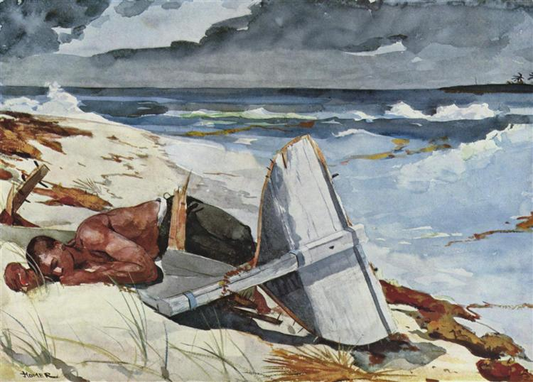 After the Hurricane, Bahamas, 1899 - Winslow Homer