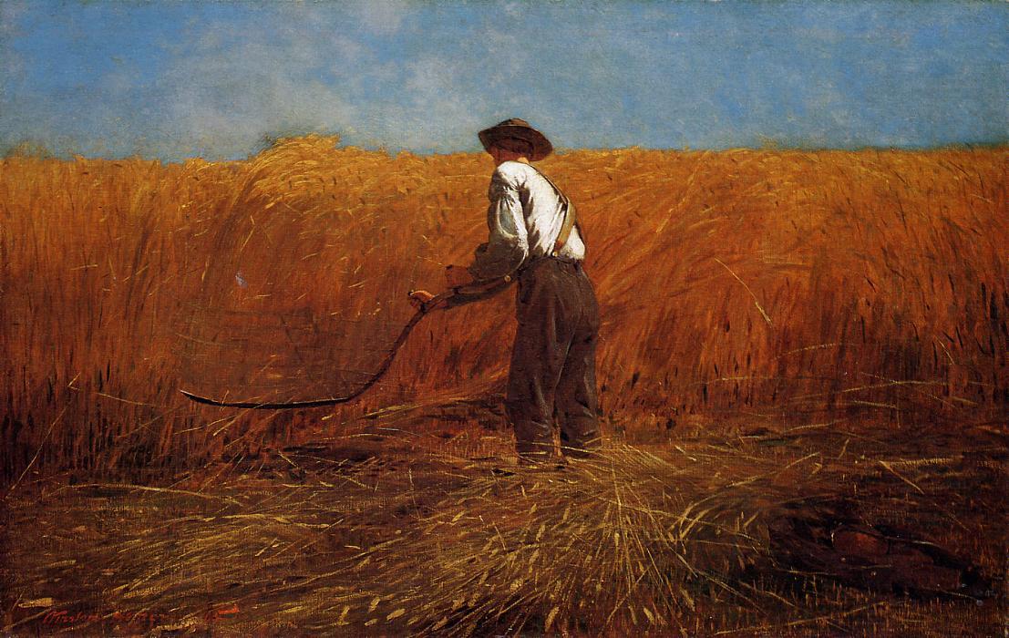The Veteran In A New Field 1865 Winslow Homer Wikiart Org