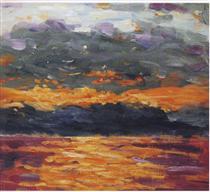 Sunset over the Sea - Winston Churchill