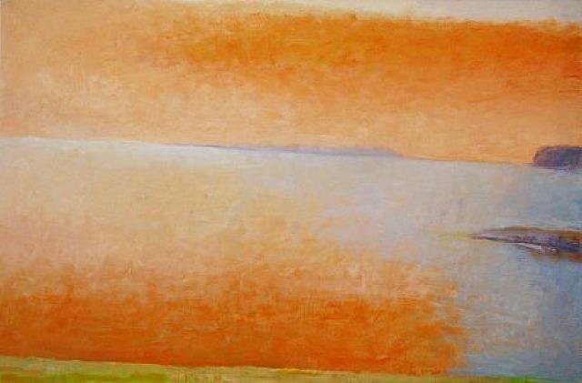 Orange Cloud Over the Adriatic Sea, 1996 - Wolf Kahn