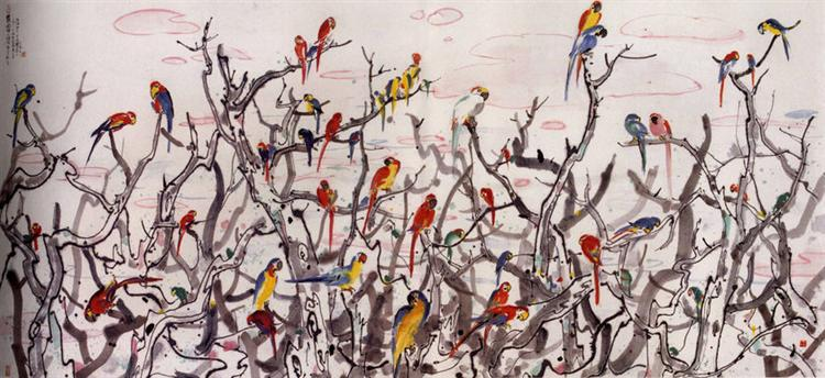 Parrot Haven - Wu Guanzhong
