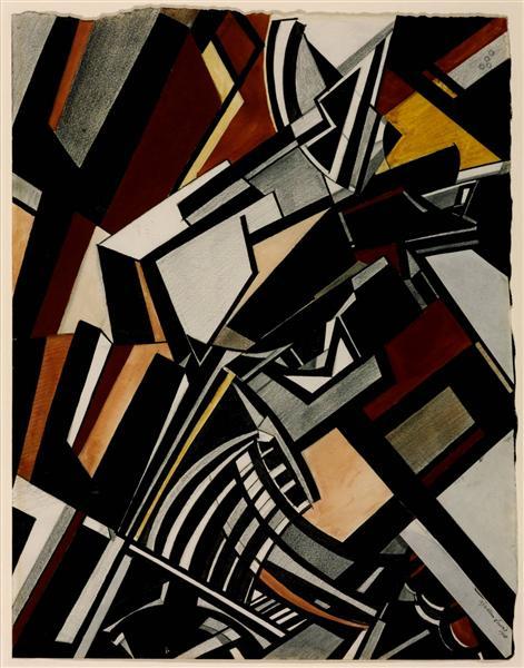Composition, 1913 - Wyndham Lewis